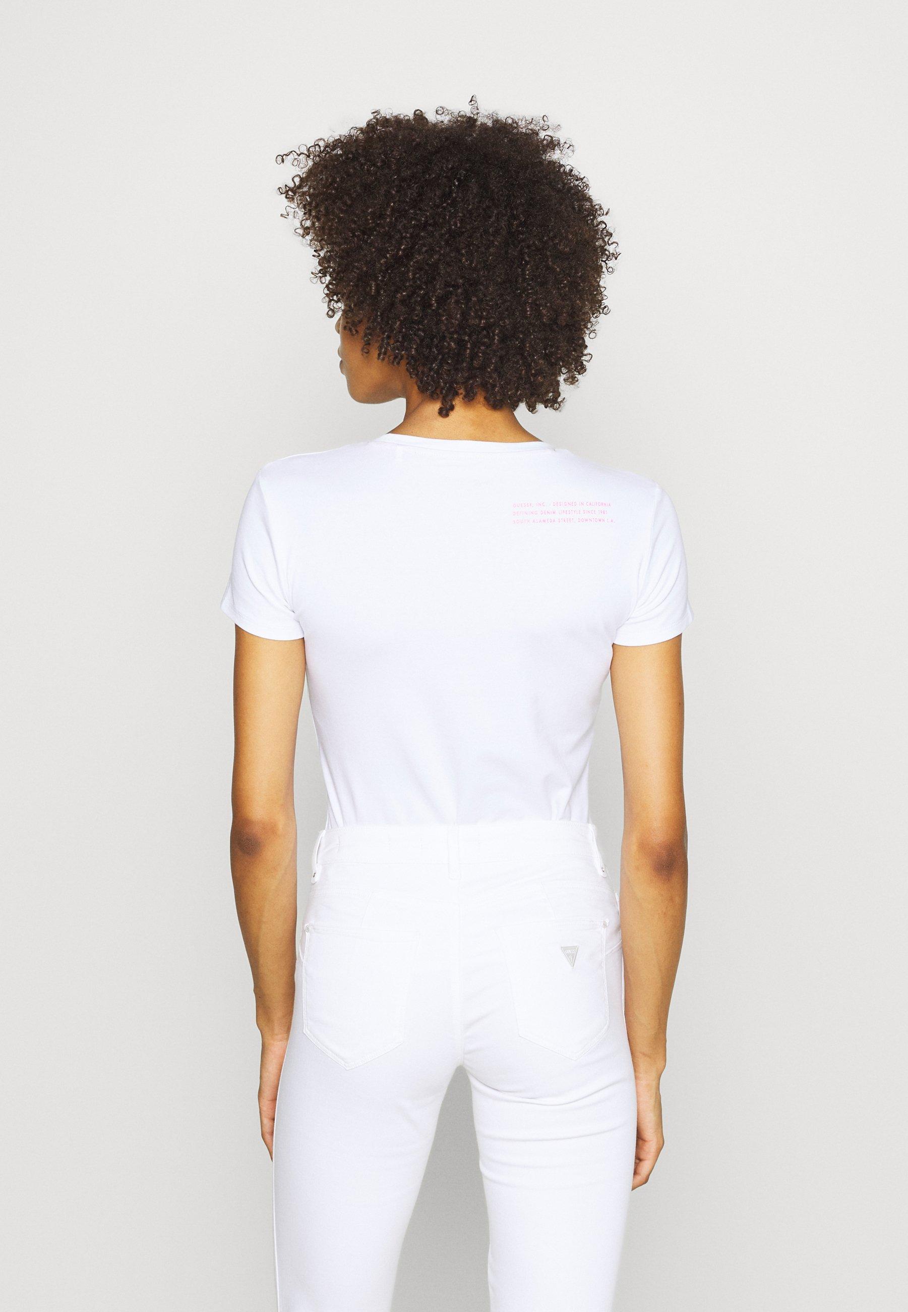 Guess Rnkamelia - T-shirts Med Print True White/hvit