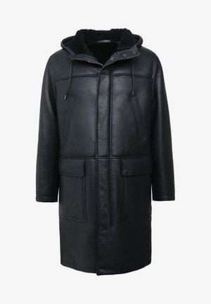 EASTON - Veste en cuir - black
