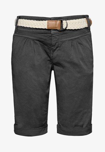 CHINO BERMUDA MIT GÜRTEL - Shorts - dark-grey