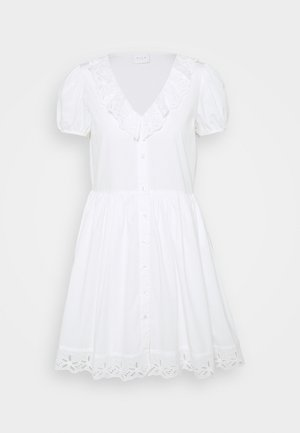 VICILLIE DRESS PETITE - Shirt dress - cloud dancer