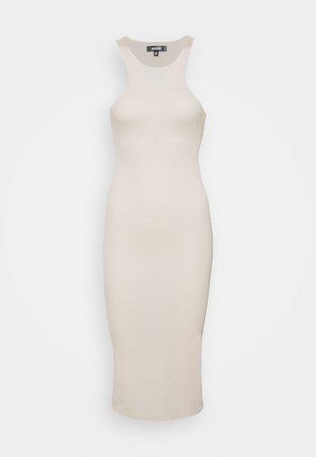 RACER MIDI DRESS - Pletené šaty - cream