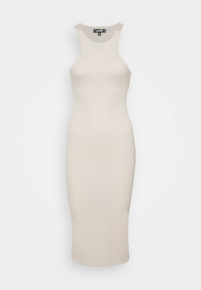 RACER MIDI DRESS - Sukienka dzianinowa - cream