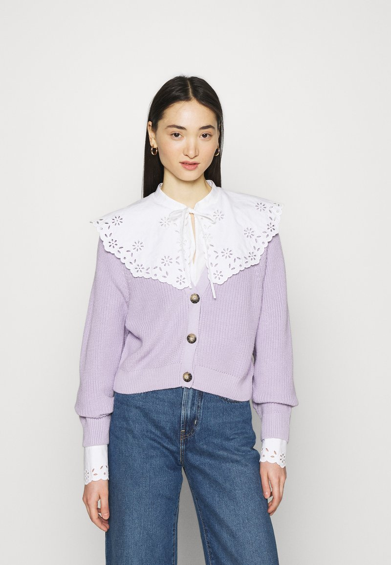 Monki - ZETA CARDIGAN - Cardigan - purple