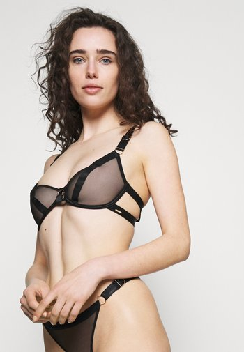 THEA BRA - Kaarituelliset rintaliivit - black