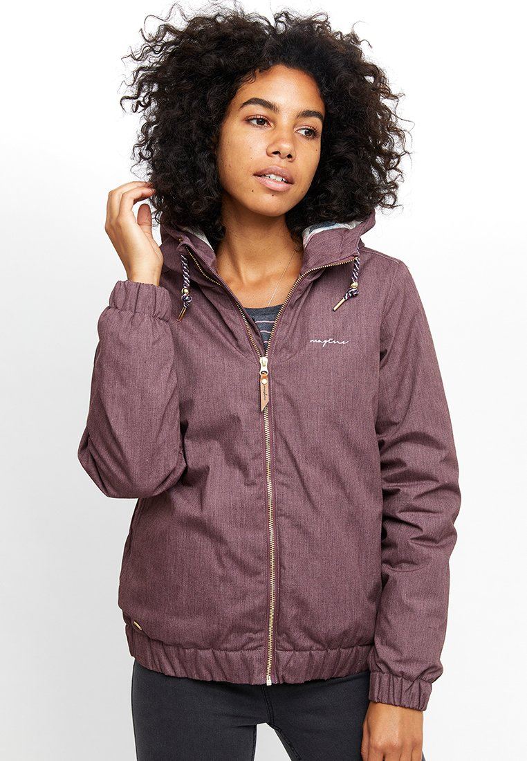 Mazine - LIBRARY - Winter jacket - berry melange