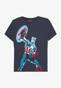 GAP - BOY - T-shirt print - navy heather - 2