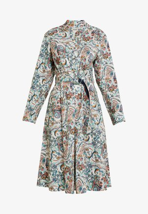 DRESS FLORAL PATTERN PRINT - Skjortekjole - off-white