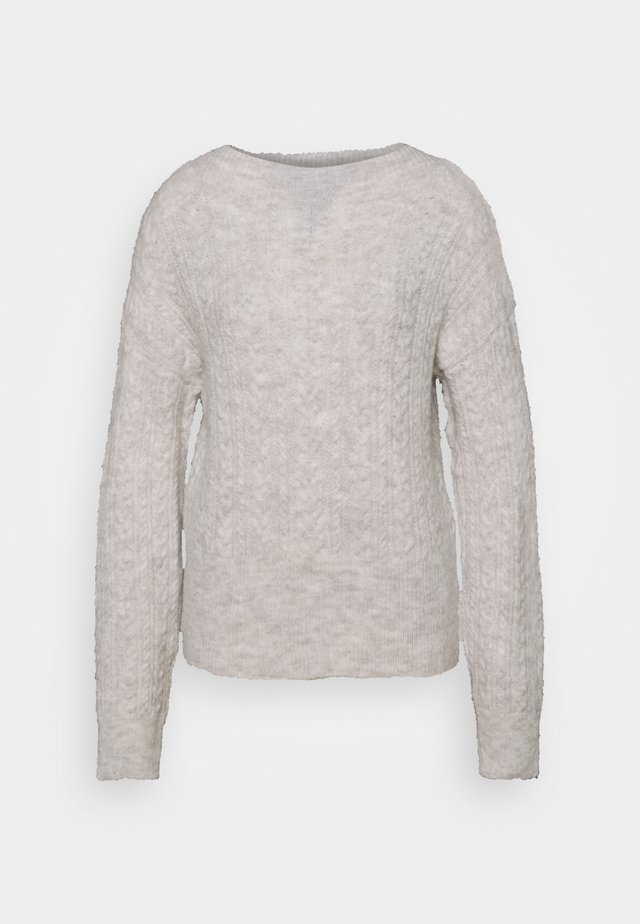 FIANNA STRUCTURED  - Strikpullover /Striktrøjer - light grey melange