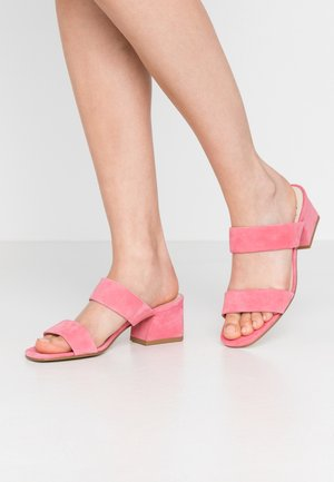 ELENA - Heeled mules - candy pink