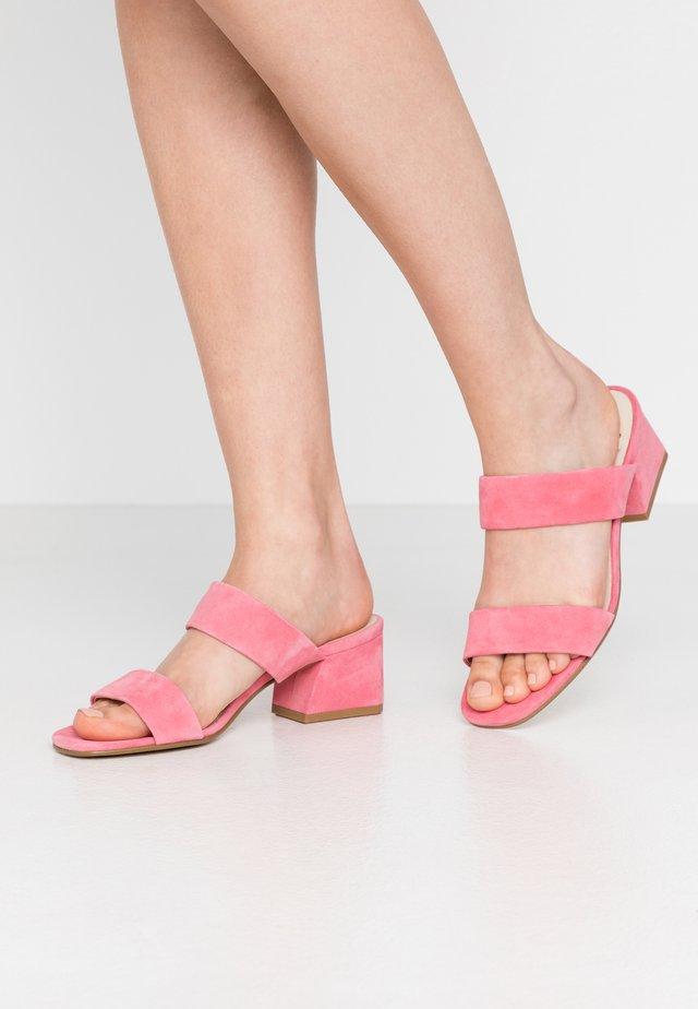 ELENA - Heeled mules - candy pink