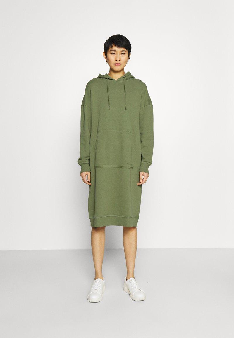 Marc O'Polo - DRESS HOOD - Day dress - dried sage