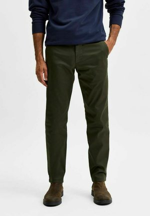 SLHSLIM BUCKLEY FLEX PANTS - Trousers - forest night