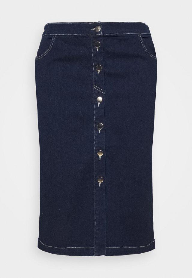 CANARIE - A-line skirt - blu marino