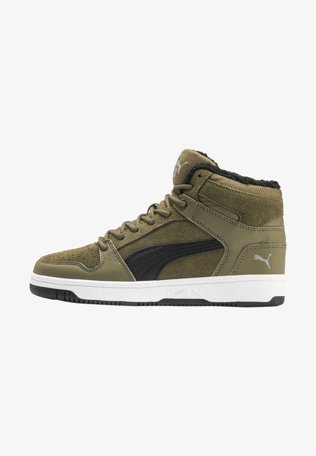 Sneakersy wysokie - olive/black