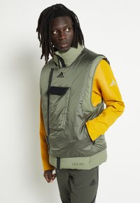 adidas Performance - Waistcoat - dark green - 0