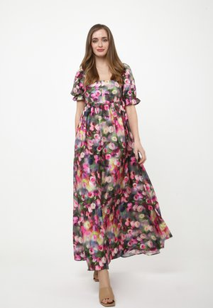 AMORESSA - Maxi dress - grau, rosa