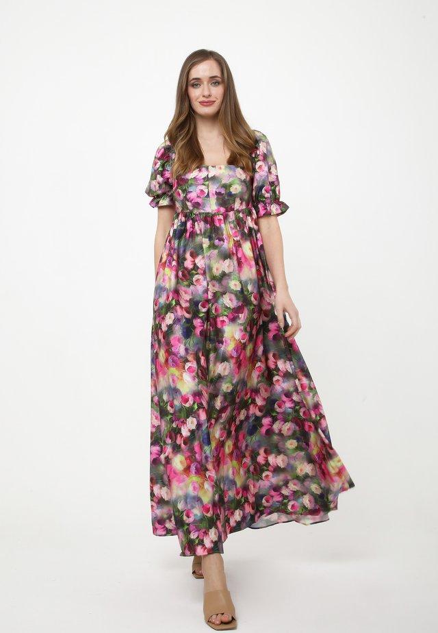 AMORESSA - Vestito lungo - grau, rosa