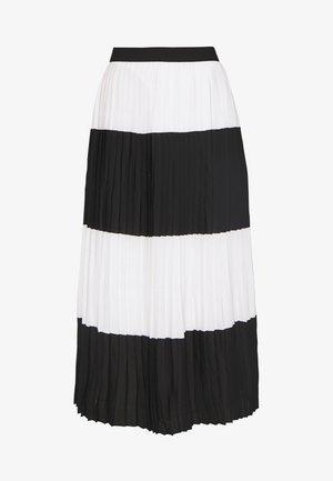 ALIA CARMEN SKIRT - Spódnica trapezowa - black white
