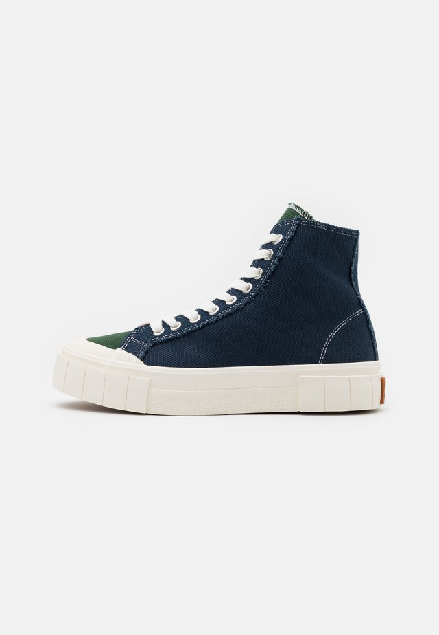 PALM UNISEX - High-top trainers - navy/green/pink