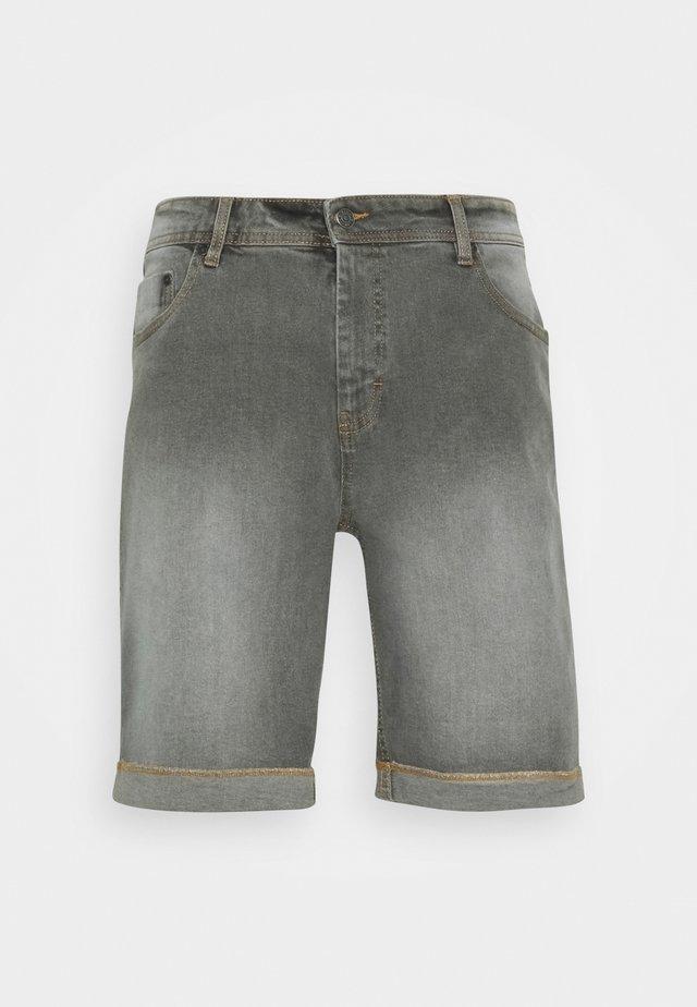 MR ORANGE - Denim shorts - light grey