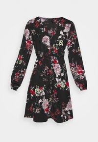 Vero Moda - VMKATINKA TIE DRESS - Denní šaty - black - 5