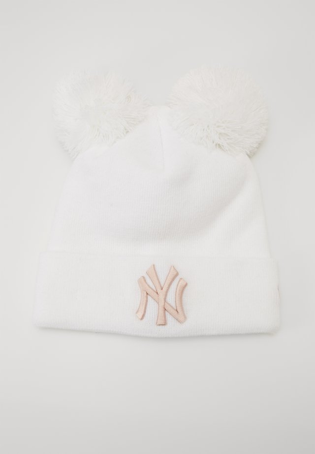 KIDS LEAGUE ESSENTIAL DOUBLE BOBBLE CUFF - Beanie - white/light pink