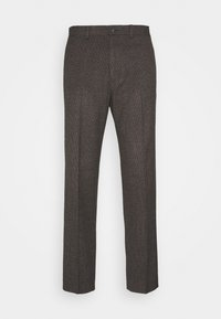 Isaac Dewhirst - CHECKFLAT FRONT TROUSER - Broek - brown - 4