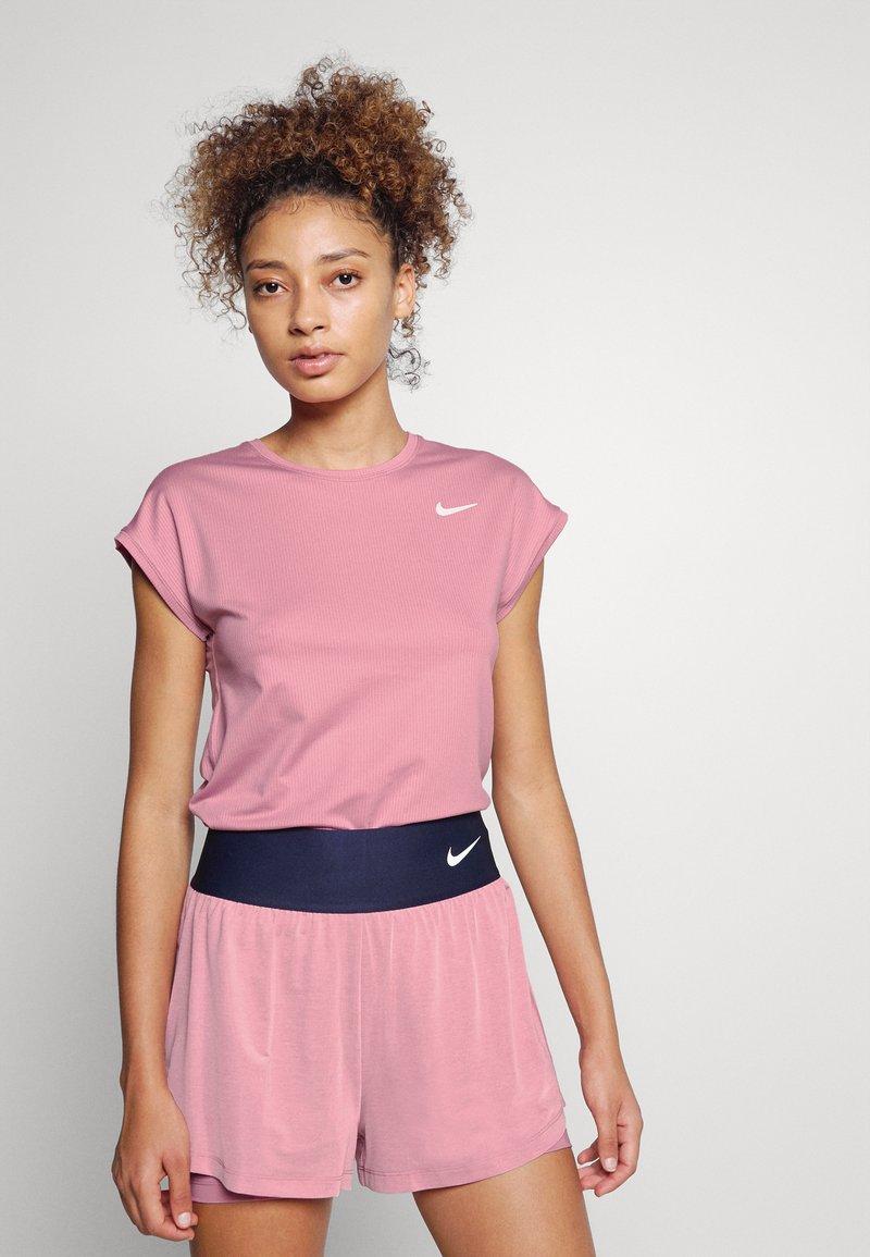 Nike Performance - Jednoduché triko - elemental pink/white