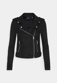 Vero Moda Petite - VMBOOSTBIKER - Faux leather jacket - black - 0