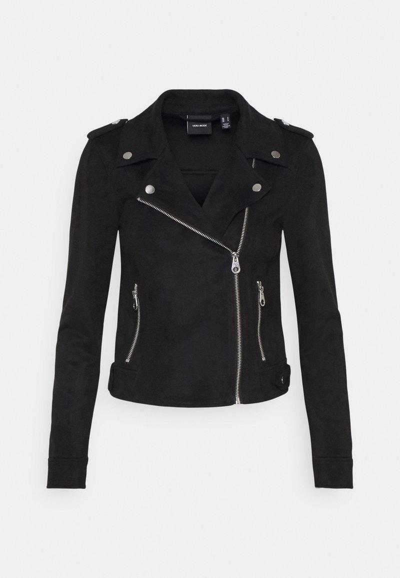 Vero Moda Petite - VMBOOSTBIKER - Faux leather jacket - black