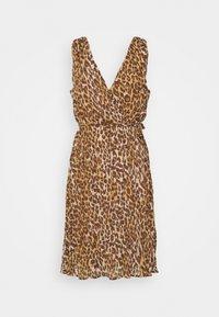 VILA PETITE - VIRENETA MIDI DRESS - Day dress - brown - 0