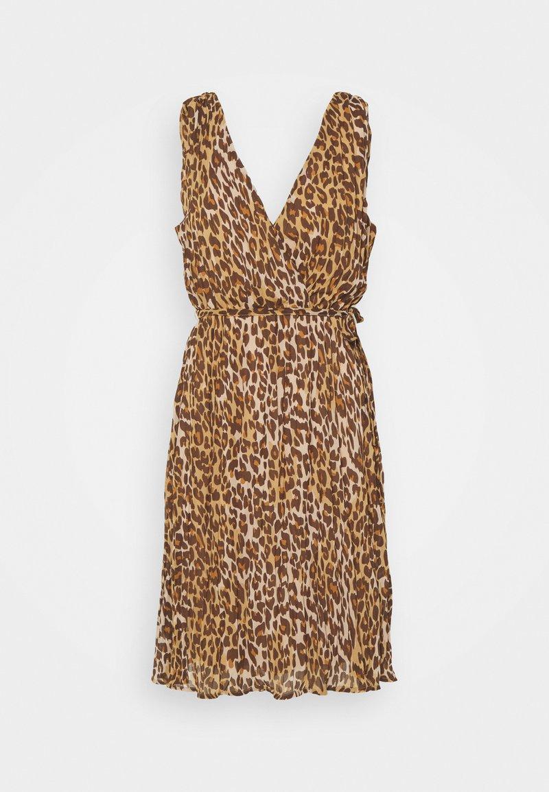 VILA PETITE - VIRENETA MIDI DRESS - Day dress - brown