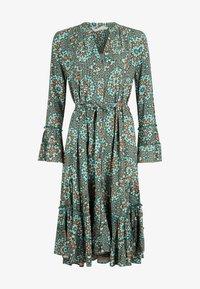 Isla Ibiza Bonita - Shift dress - turquoise batique circles - 4