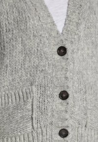 Marc O'Polo - CARDIGAN LONGSLEEVE V-NECK BUTTON CLOSURE - Cardigan - foggy melange - 4