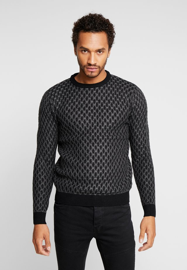 Sweter - black/grey