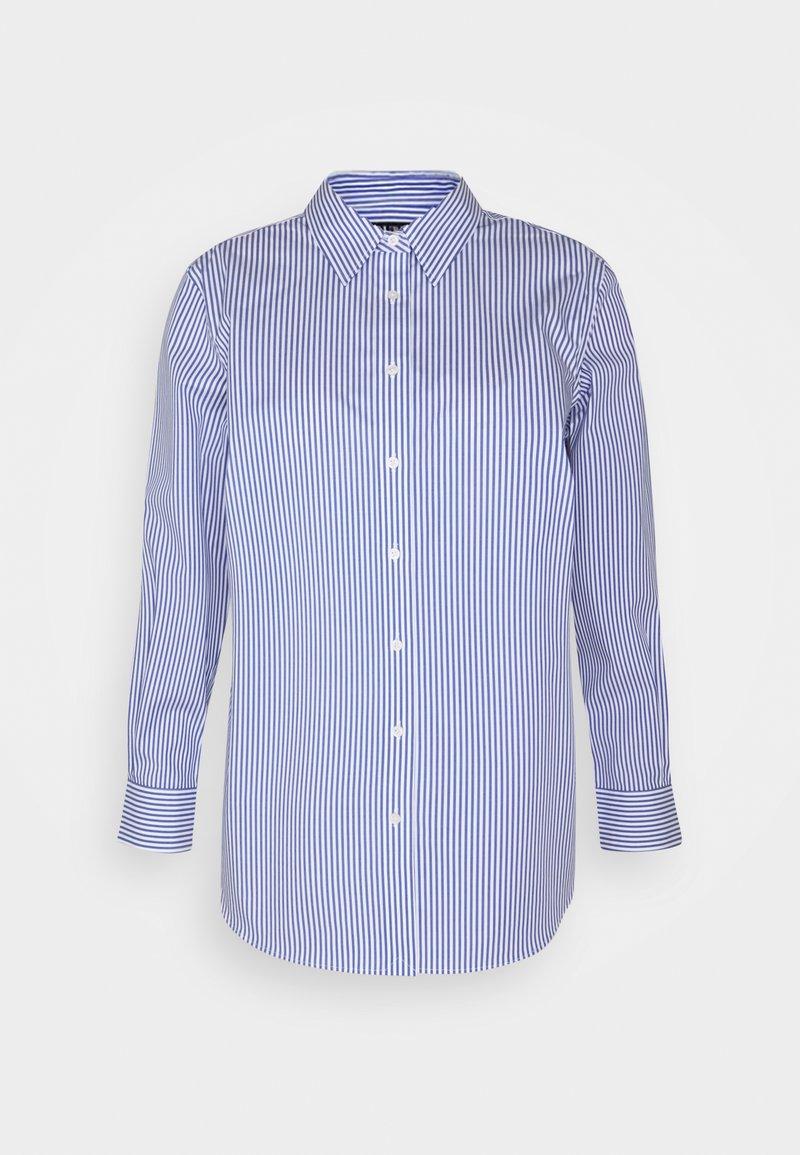Lauren Ralph Lauren Woman - JAMELKO LONG SLEEVE - Button-down blouse - blue/white