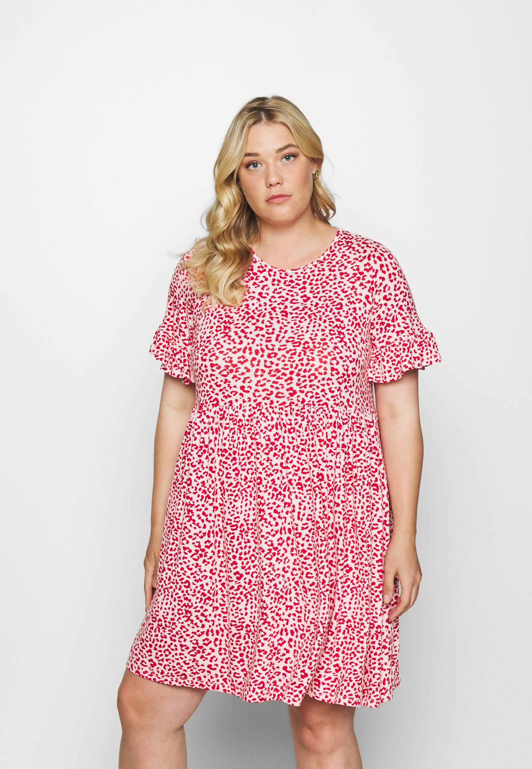 Women FRILL SLEEVE SMOCK DRESS - Jersey dress