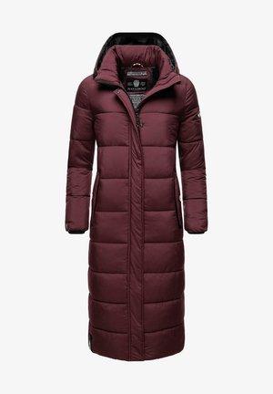 Winter coat - dark red melange