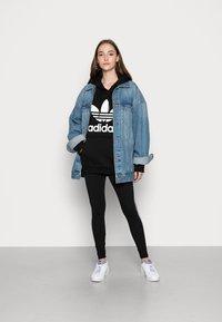 adidas Originals - HOODIE - Hoodie - black/white - 1