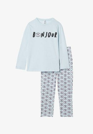 "2 PIECE SET MIT ""BONJOUR"" PRINT - Pyjamas - new polvere st bonjour"