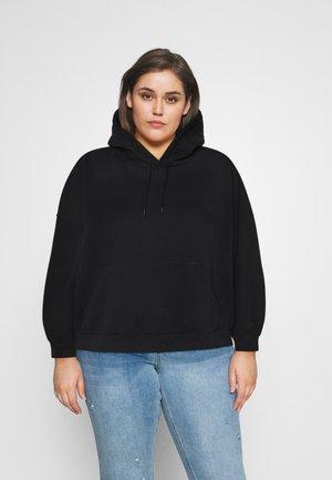 DROP SHOULDER HOODIE - Sweatshirt - black