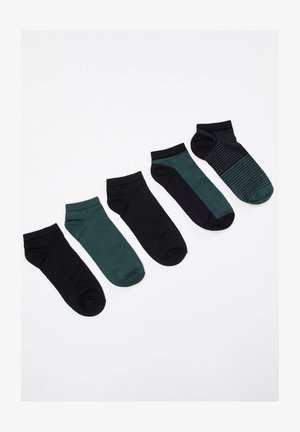 5ER PACK - Trainer socks - green