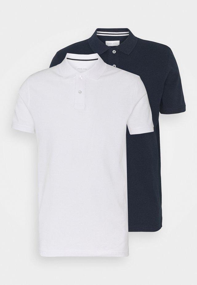 2 PACK - Polo - dark blue/white