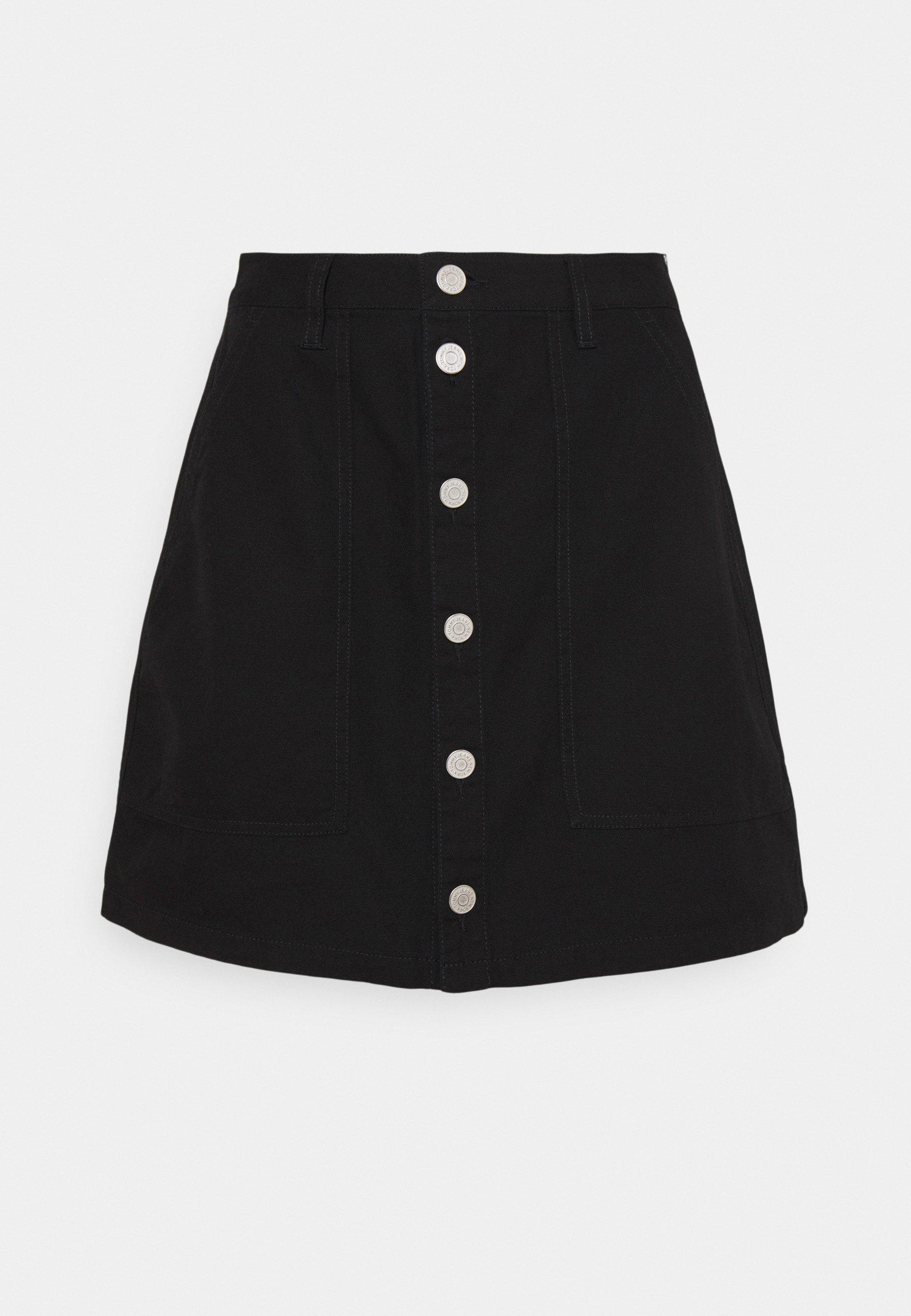Women BADGE BUTTON THROUGH SKIRT - Mini skirt