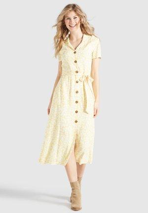GOYA - Shirt dress - gelb-weiß geblümt