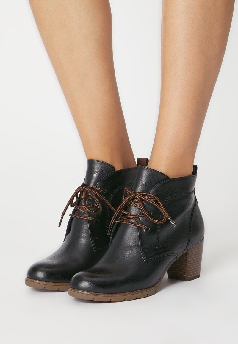Marco Tozzi - Lace-up ankle boots - black