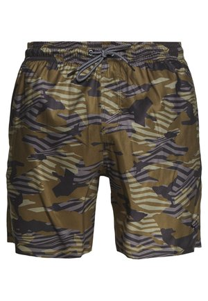 MEDIUM LENGTH SWIM - Plavky - olive