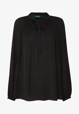 DRAPEY - Blouse - black
