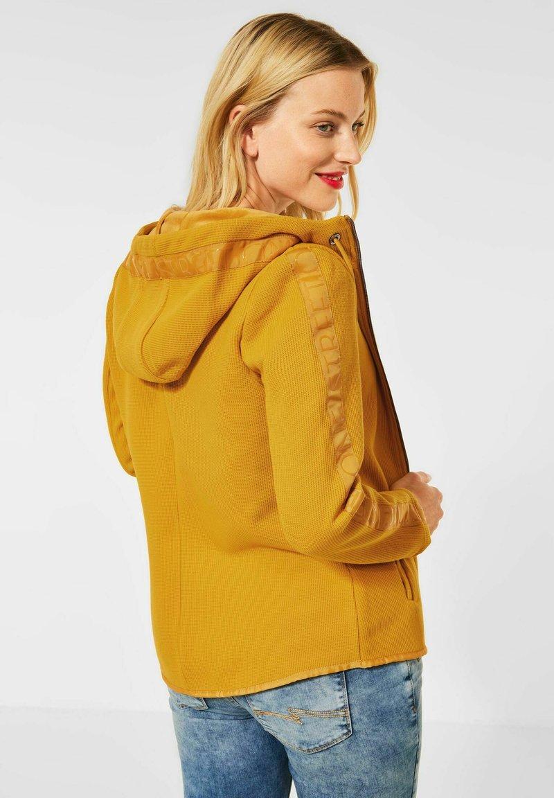 Street One - Zip-up sweatshirt - gelb