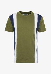 Bellfield - CU AND SEW TEE  - Print T-shirt - khaki - 4